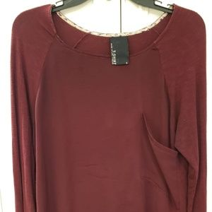Anthropologie Dolan Long Sleeve Pocket Tee Small
